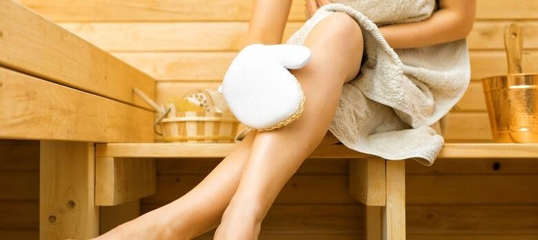 Anwendung in der Sauna