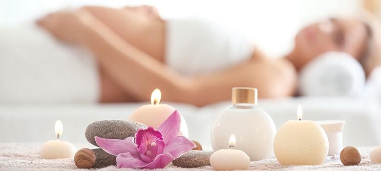 Schwangere bei der Massage