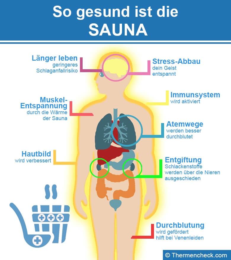 Sauna und Gesundheit - so gesund ist die Sauna | Infografik