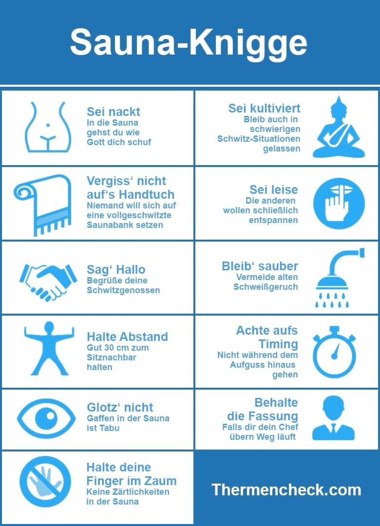 Sauna Knigge Infografik